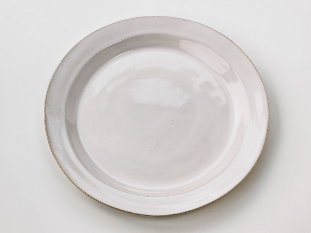Large Plate glossy white & Medium Bowl Duck Egg Blue - Bird in the Hand