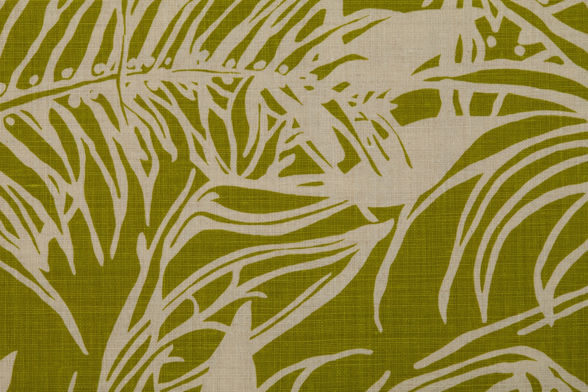 Hidden Heliconia lime Linen